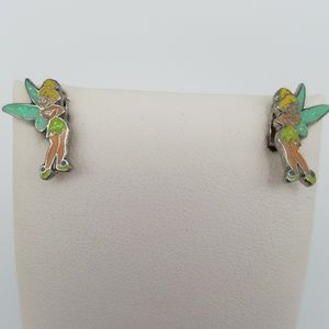 Disney Glittery Tinker Bell Stud Earrings